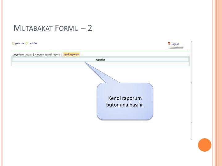 Mutabakat Formu – 2