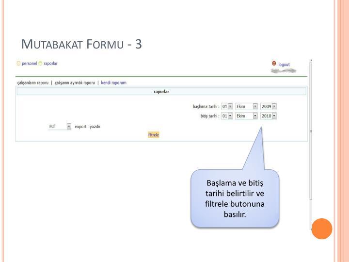 Mutabakat Formu - 3