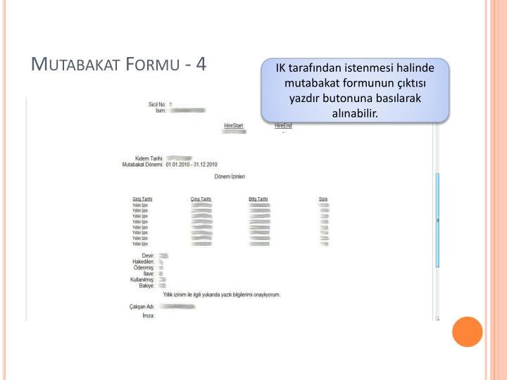 Mutabakat Formu - 4