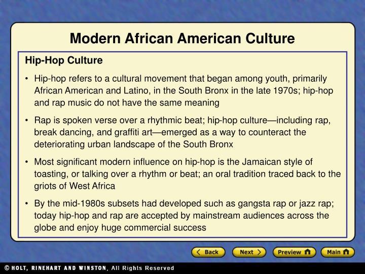 Modern African American Culture