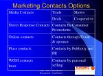 marketing contacts options
