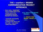 the warfare brand communicative project approach