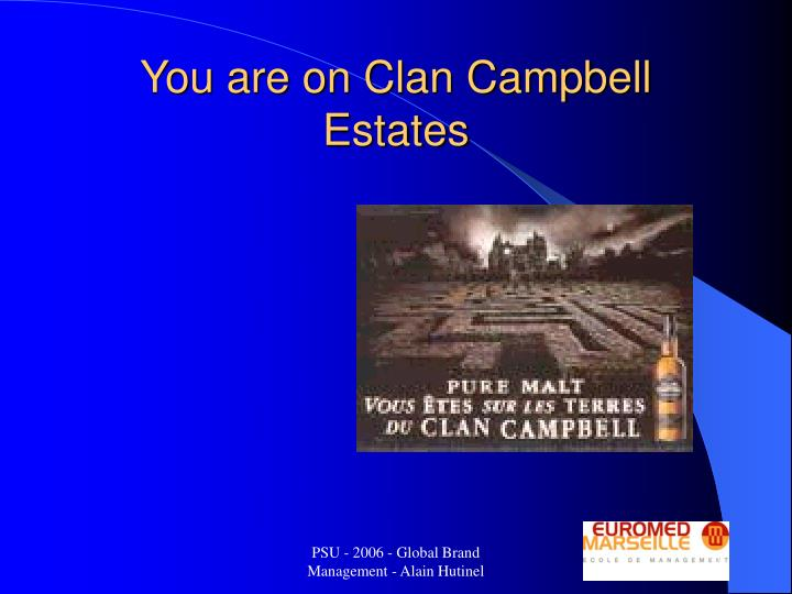 You are on Clan Campbell Estates