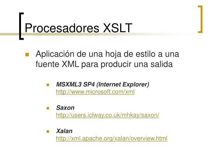 Procesadores XSLT