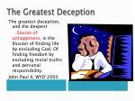 the greatest deception2