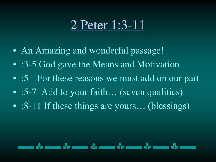 2 Peter 1:3-11