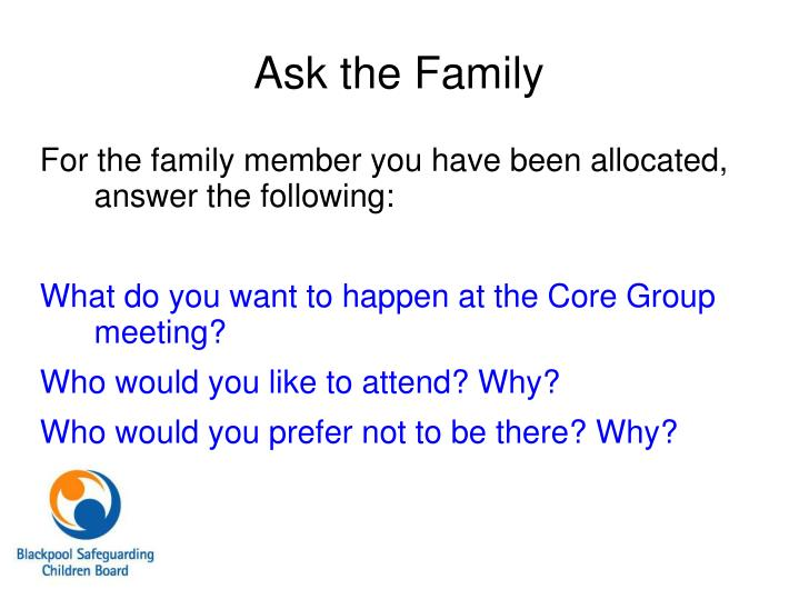 Ask the Family