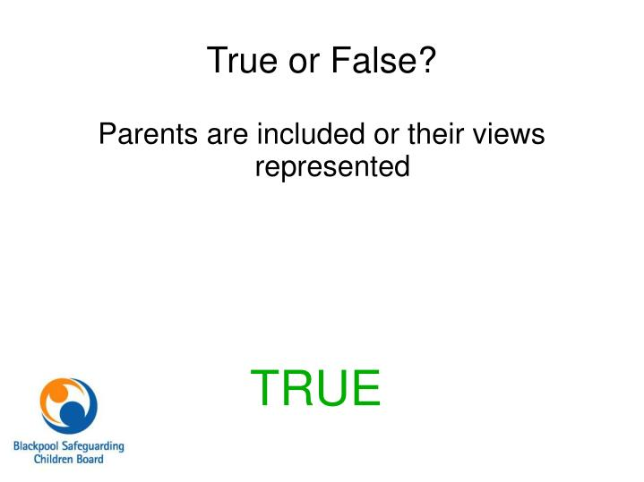 Parents are included or their views represented