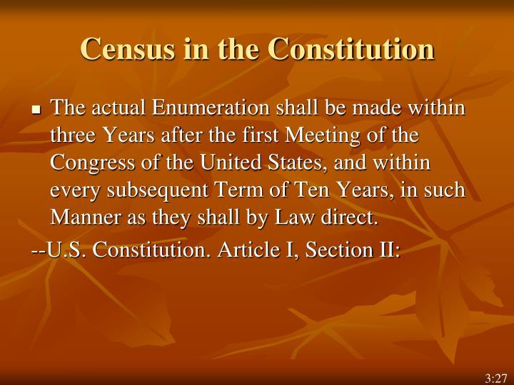 Census in the Constitution