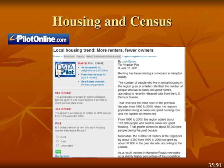 Housing and Census