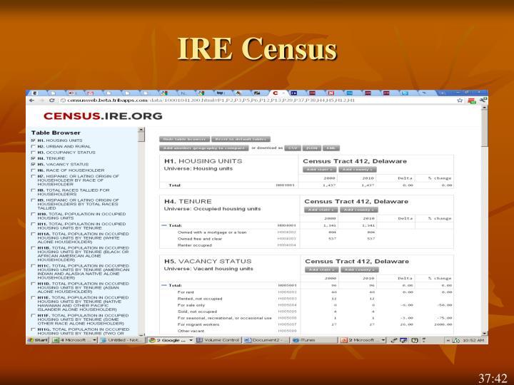 IRE Census