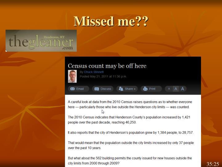 Missed me??