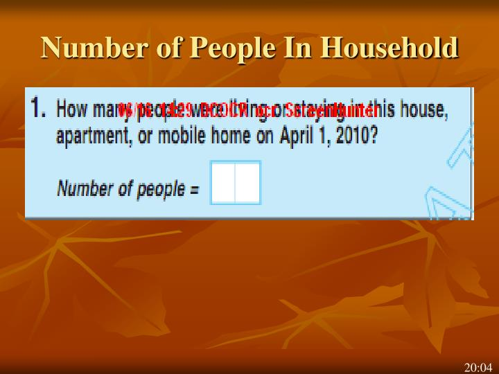 Number of People In Household