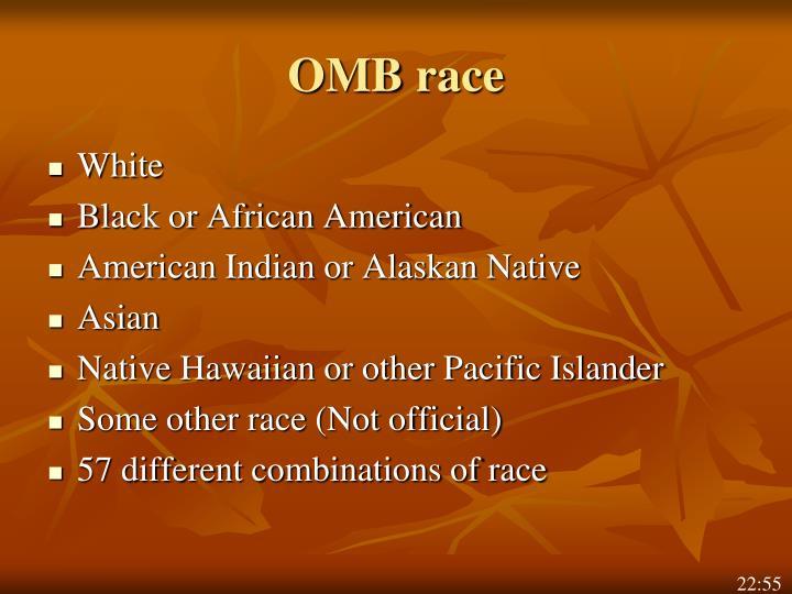 OMB race