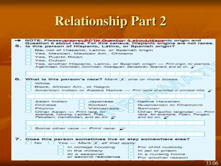Relationship Part 2