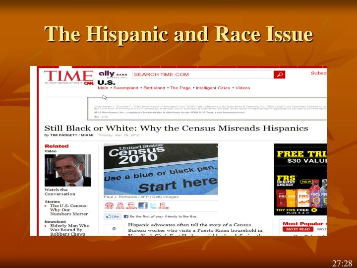 The Hispanic and Race Issue