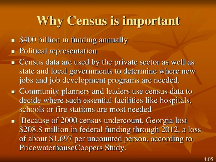 Why Census is important