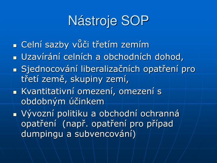 Nástroje SOP