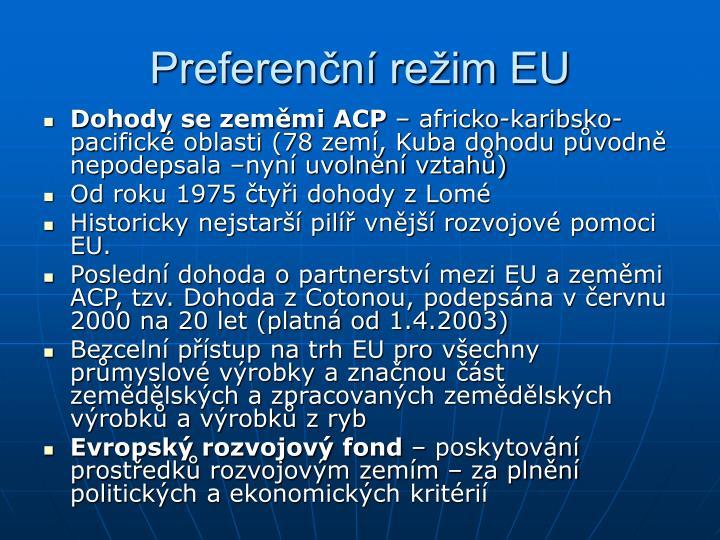 Preferenční režim EU
