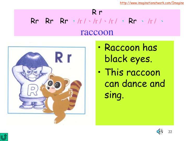 Raccoon has black eyes.