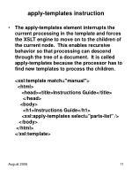 apply templates instruction