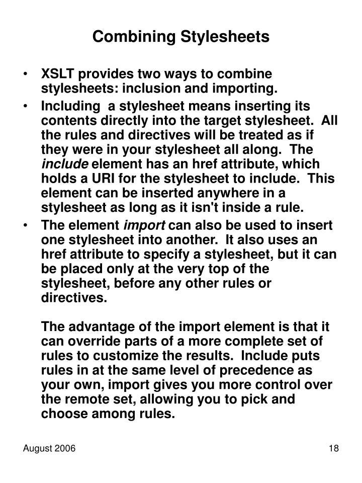 Combining Stylesheets