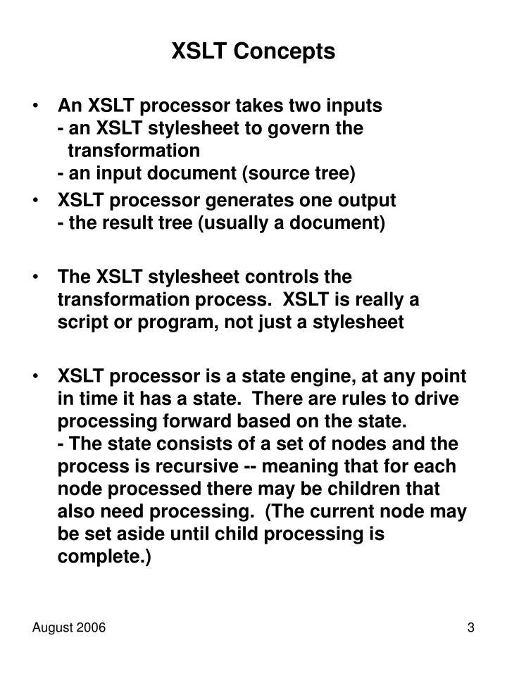 XSLT Concepts
