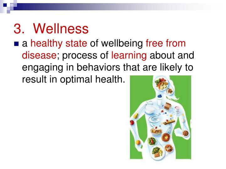 3.  Wellness