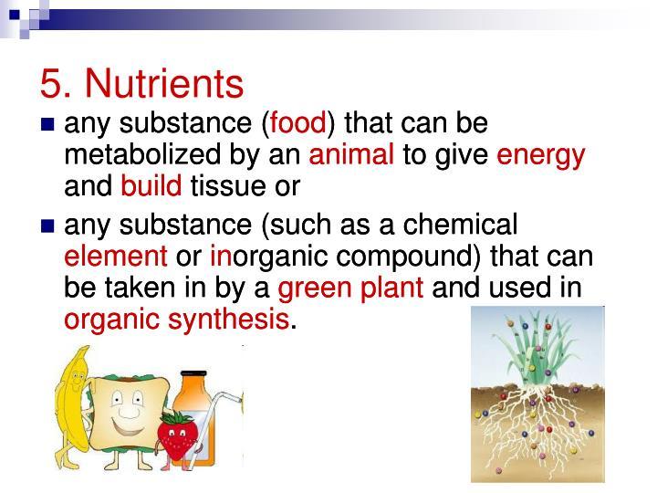 5. Nutrients