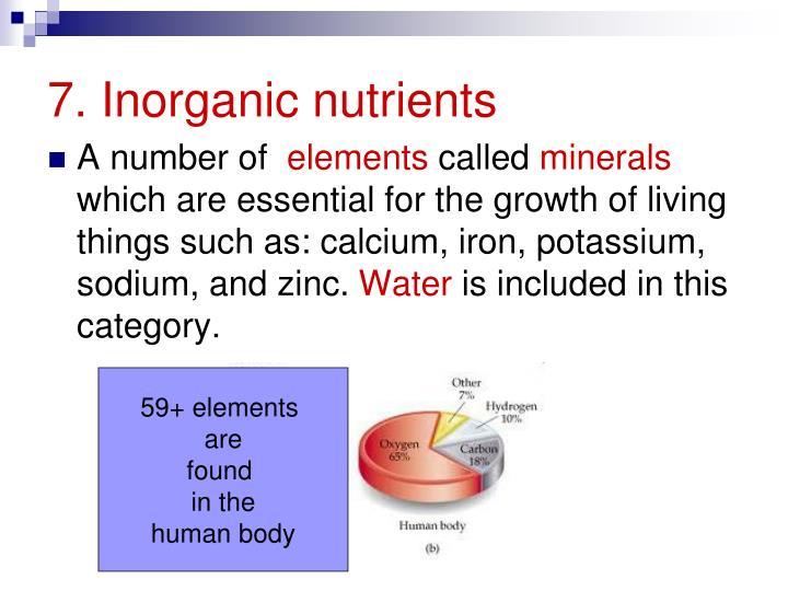 7. Inorganic nutrients