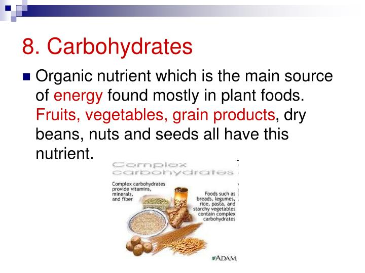 8. Carbohydrates