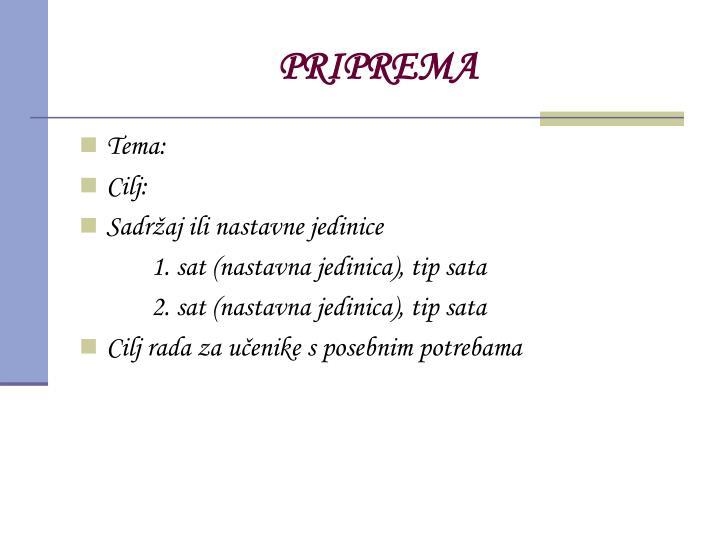 PRIPREMA