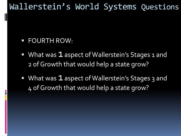 Wallerstein's