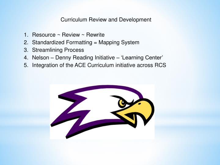 Curriculum Review and