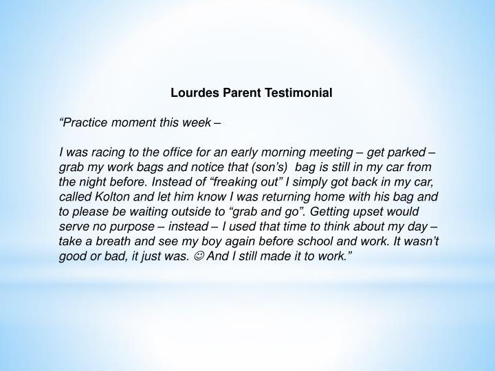 Lourdes Parent