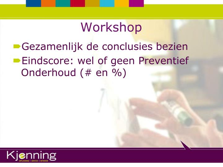 Ppt preventief onderhoud powerpoint presentation id 5667153 - Workshop zou ...