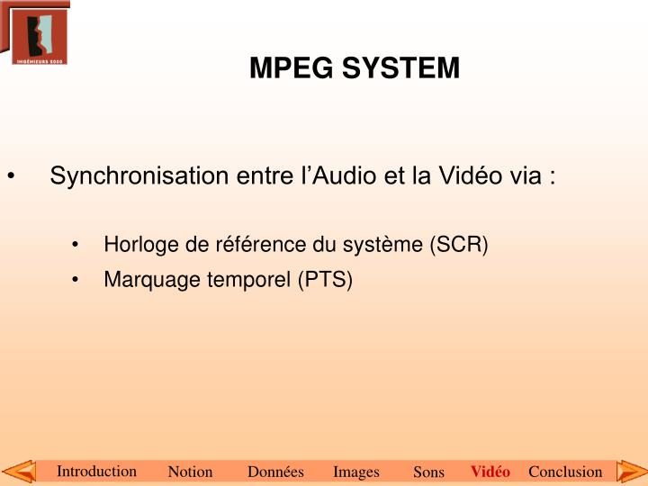 MPEG SYSTEM