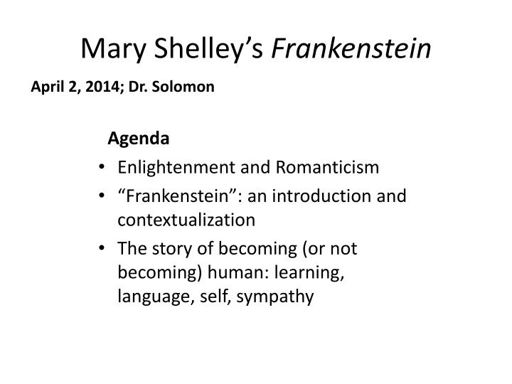 self education in mary shelleys frankenstein essay