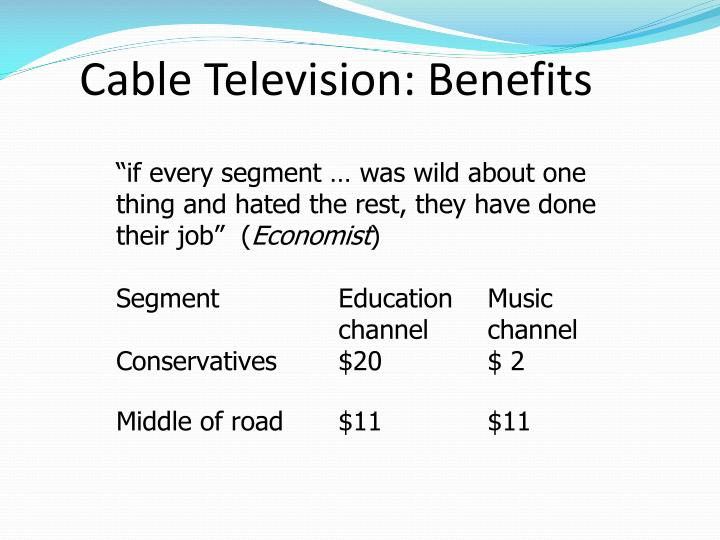 Cable Television: Benefits