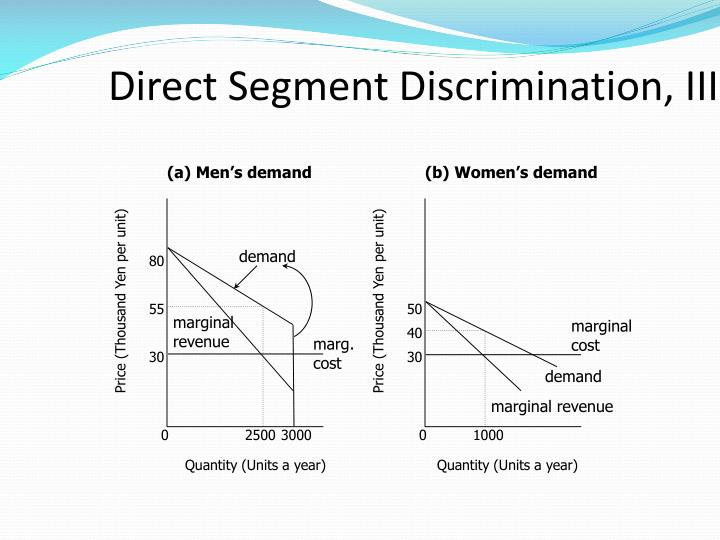 Direct Segment Discrimination, III
