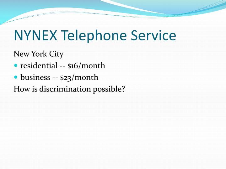 NYNEX Telephone Service