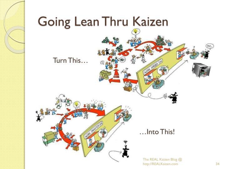 Going Lean Thru Kaizen