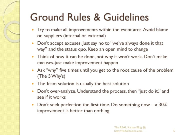 Ground Rules & Guidelines