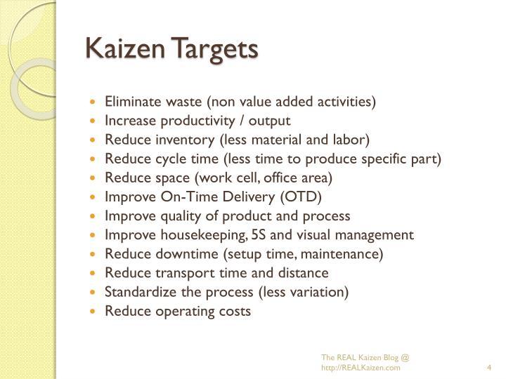 Kaizen Targets