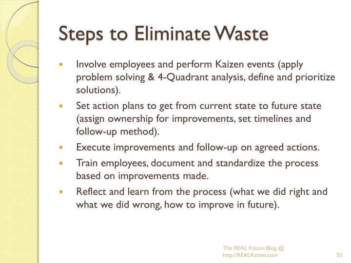 Steps to Eliminate Waste