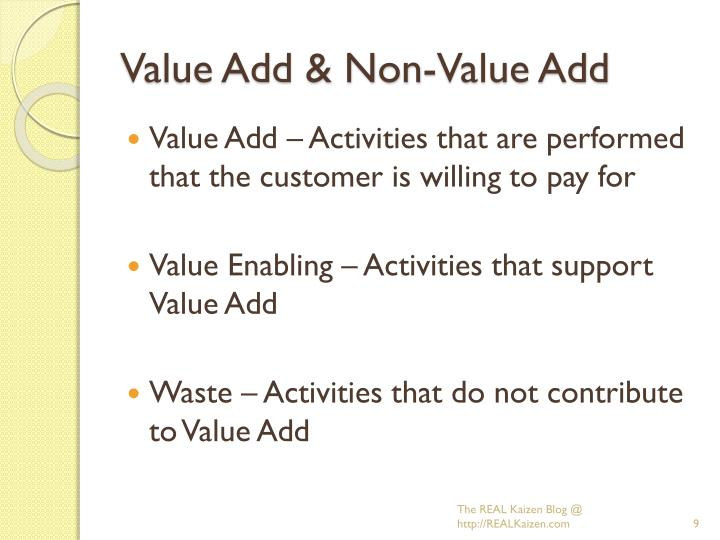 Value Add & Non-Value Add