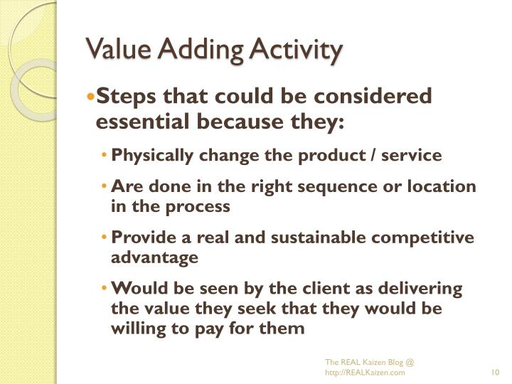 Value Adding Activity