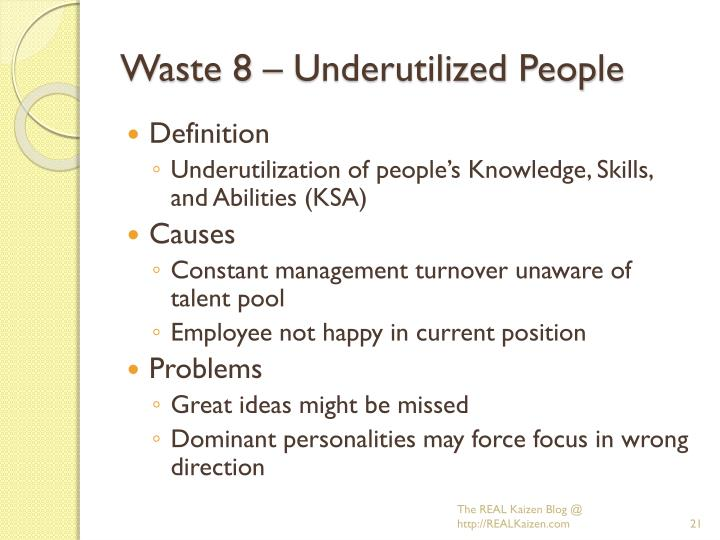 Waste 8 – Underutilized People