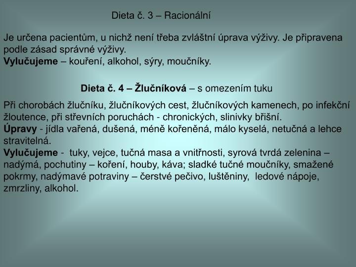 Dieta č. 3 – Racionální