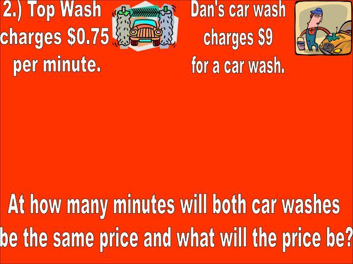 2.) Top Wash